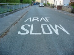 sign slow wales